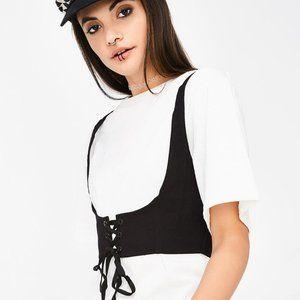 🆕 NWT Étophe Studios 'Carried Away' corset tee